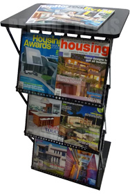 Brochure/Leaflet/Literature Holders/Stands/Display/Racks/Concertina 4 with Table