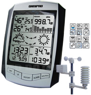 Omnipad PRO R1 Professional Digital Wireless Weather Stations/Instruments/Equipment/ Portable Rain Gauges