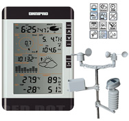 Omnipad PRO R2 Professional Digital Wireless Weather Stations/Instruments/Equipment/ Portable Rain Gauges
