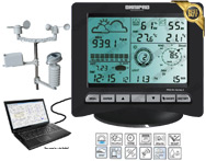 Omnipad PRO R4 Series 2 Professional Digital Wireless Weather Stations/Instruments/Equipment/ Portable Rain Gauges