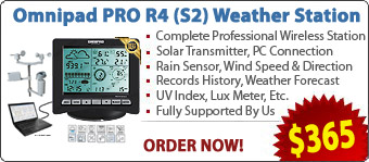Omnipad Professional Digital Wireless Weather Stations/Instruments/Equipment/ Portable Rain Gauges